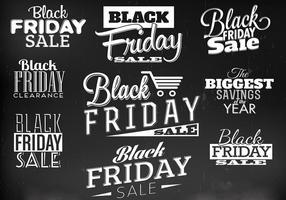 Vecteurs d'étiquettes de vendredi noir