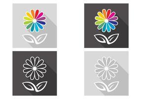 Ensemble de fleurs abstraites vecteur