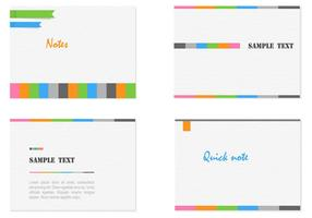 Modern Card Templates Vector Set