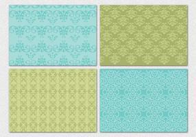 Patterns décoratifs de vecteur damassé
