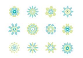 Pack de fleurs fraîches de fleurs abstraites vecteur
