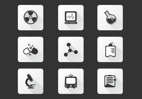 Pack de vecteur d'icônes de laboratoire médical