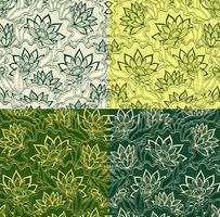 Emerald Vintage Floral Vector Patterns