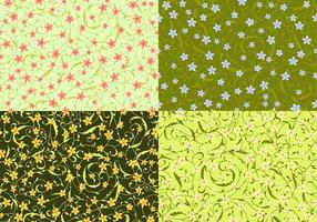 Swirly Floral Vector Patterns