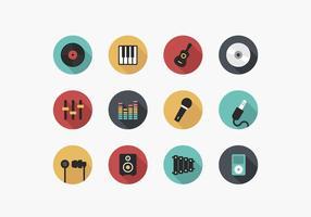 Pack de vecteur icône de musique