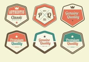 Ensemble de vecteur Retro Premium Label