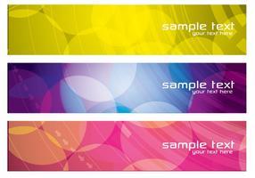 Ensemble de vecteur de bannières abstraites colorées