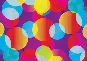 Vecteur de fond de cercle coloré