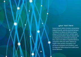Bleu lignes rougeoyantes Vector Background
