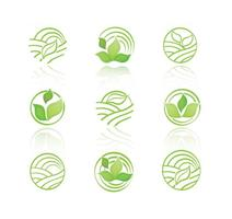 Green Eco Icons Vector Collection