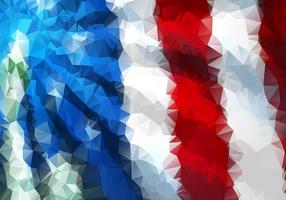 Polygonal American Flag Background Vector Two