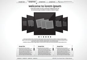 Modèle de vecteur de site Web noir et blanc élégant