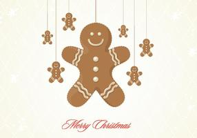 Gingerbread cookie christmas vector background