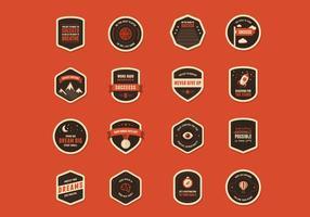 Vecteurs de badges de motivation vecteur