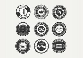 Divers vecteurs de badges rétro Premium vecteur