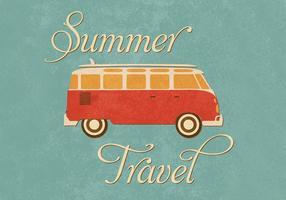 Vecteur de fond de voyage d'été