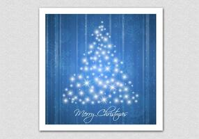 Fond d'écran bleu de l'arbre de Noël pétillant vecteur