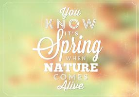 Bokeh Spring Nature Vector Background