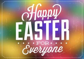 Bright Easter Vector Background