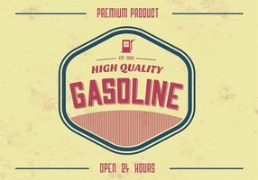 Vintage High Quality Gasoline Vector Background