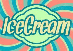 Fond de survie Sunburst Ice Cream vecteur
