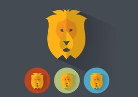 Portraits de vecteurs de lion vecteur
