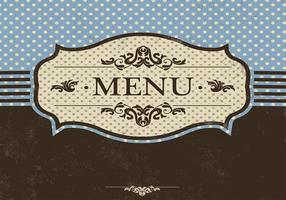 Modèle de vecteur de menu bleu
