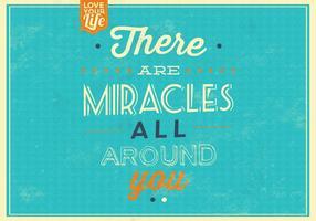 fond de vecteur de citation miracles