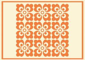 Modèle Vector Floral Orange