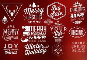 Éléments vectoriels typographiques de Noël vecteur