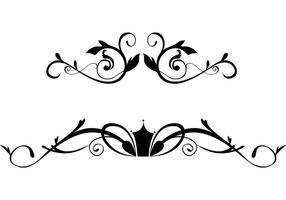 Vecteurs de bordure ornementaux floraux gratuits vecteur