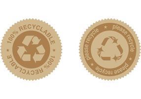 Vecteurs d'étiquette de recyclage gratuit vecteur
