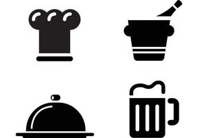 vecteurs d'icône de restaurant