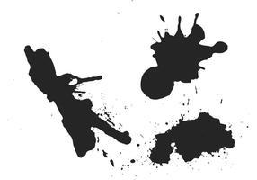Vecteurs de splatter de peinture gratuits vecteur