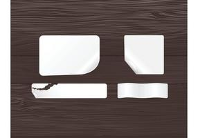 Free Sticky Notes and Wood Panel Vectors