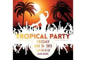 Affiche de fête tropicale de vecteur libre