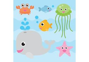 Vecteurs d'animaux de mer vecteur