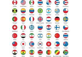 Vecteurs internationaux de drapeau