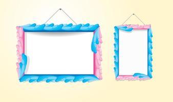 Vecteurs de cadre colorés décoratifs