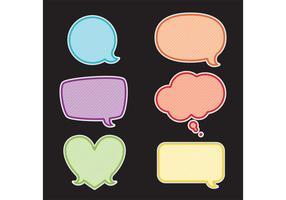 Vecteurs de bulles de discours