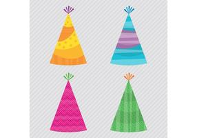 Vecteurs de chapeau de fête