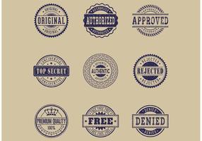 Vecteur commercial gratuit de timbres en caoutchouc grunge