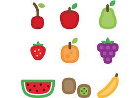 Icônes de vecteur de fruits