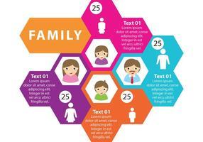 Infographie vectorielle de famille vecteur
