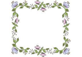 Cadre floral de vecteur gratuit