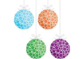 Boules de vecteur d'ornement de Noël