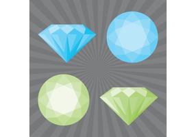 Vecteurs de diamants vecteur