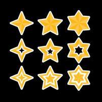 Vecteurs étoiles vecteur