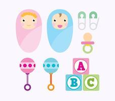 Icônes de vecteur bébé