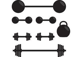 Silhouette des poids vectoriels de gymnastique vecteur